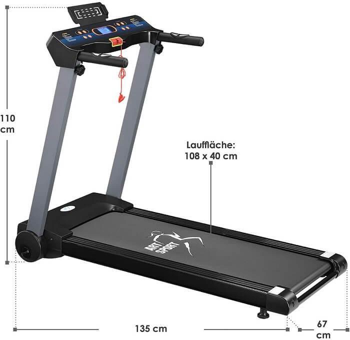 ArtSport Laufband Speedrunner 2500 Abmessungen