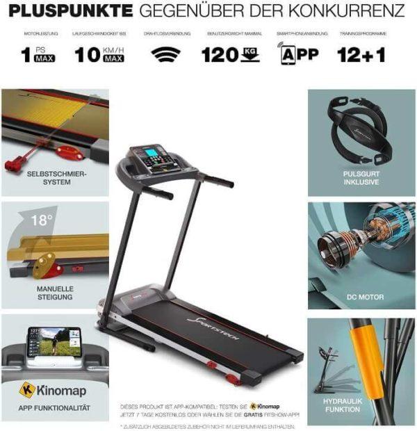 Sportstech F10 Vorteile Laufband