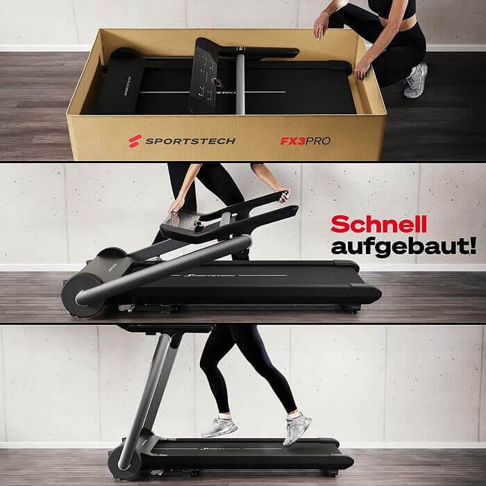 Sportstech FX3 Pro Design Aufbau